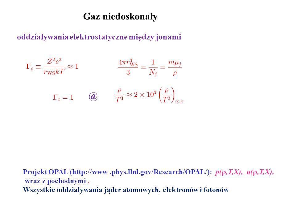 Gaz niedoskonały @ oddziaływania elektrostatyczne między jonami