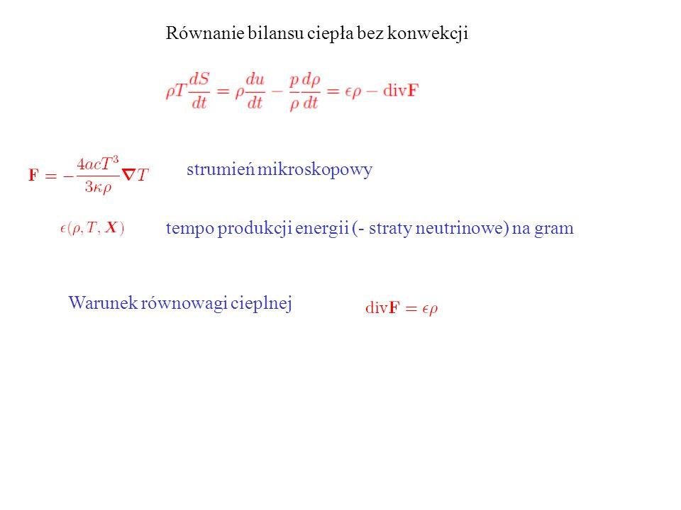 Równanie bilansu ciepła bez konwekcji