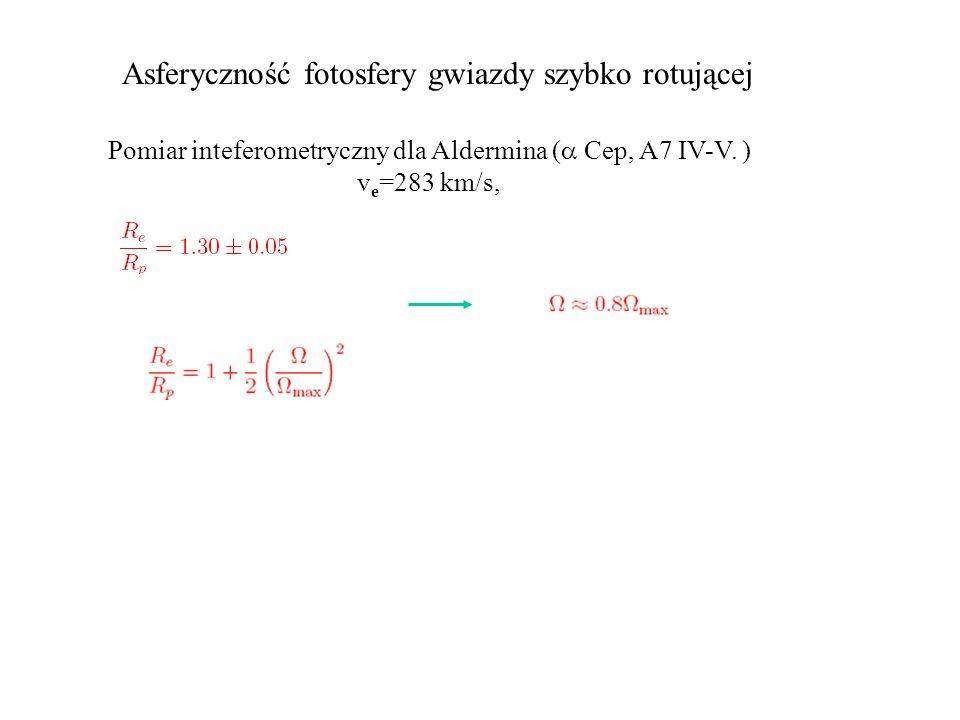 Pomiar inteferometryczny dla Aldermina ( Cep, A7 IV-V. )