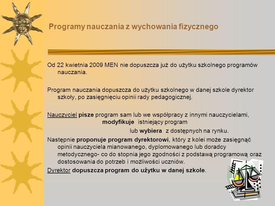 Programy nauczania z wychowania fizycznego