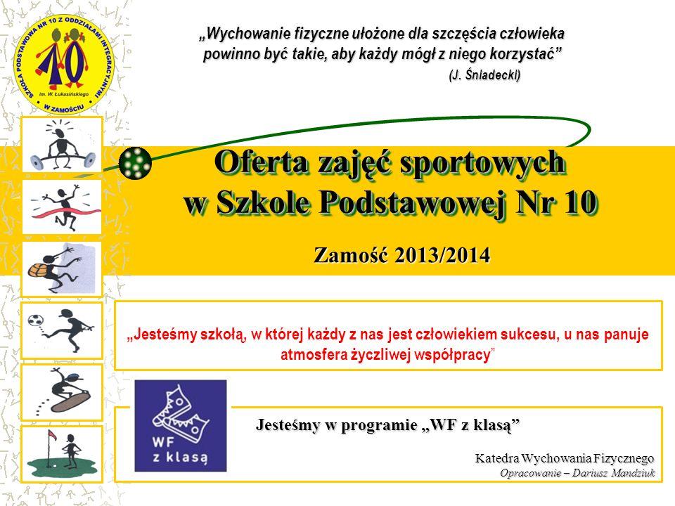 Oferta zajęć sportowych w Szkole Podstawowej Nr 10