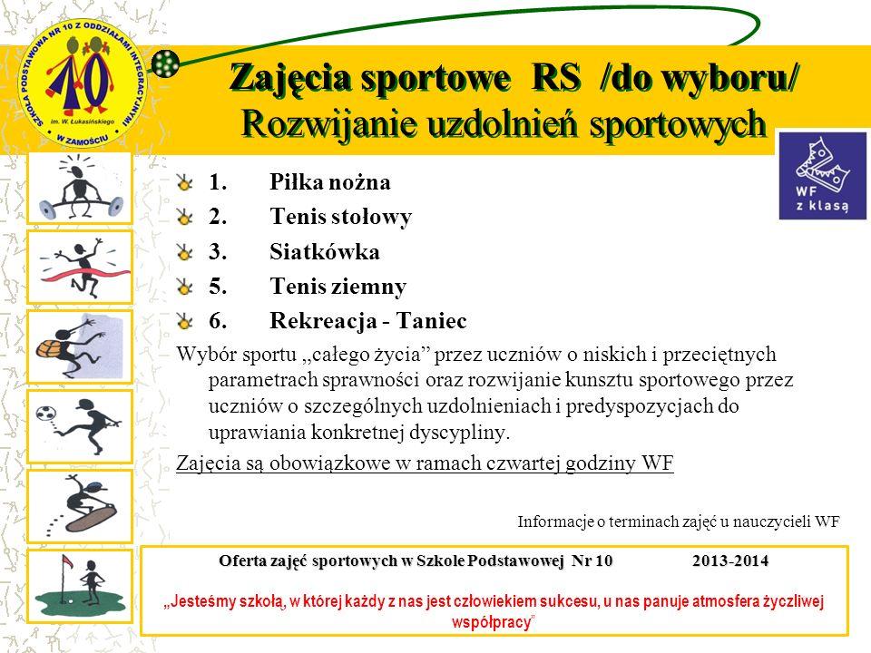 Zajęcia sportowe RS /do wyboru/ Rozwijanie uzdolnień sportowych