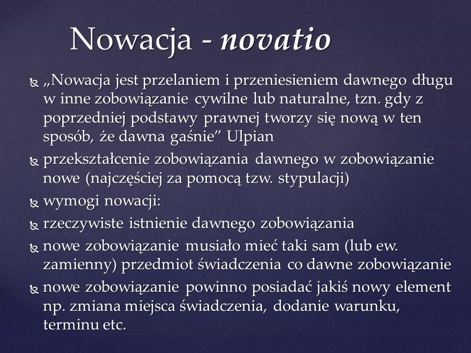 Nowacja - novatio