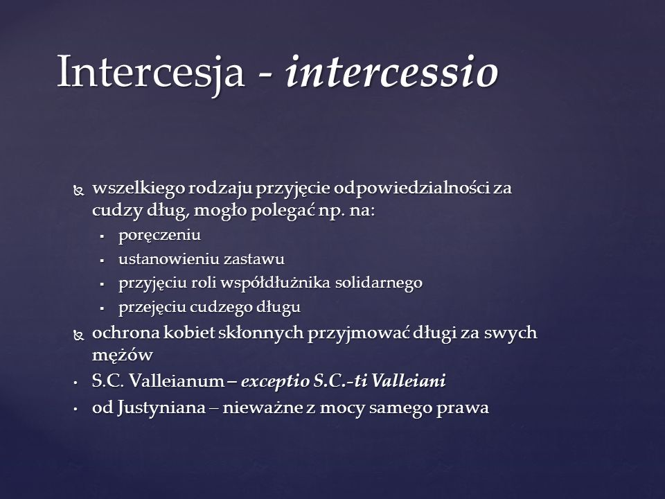 Intercesja - intercessio
