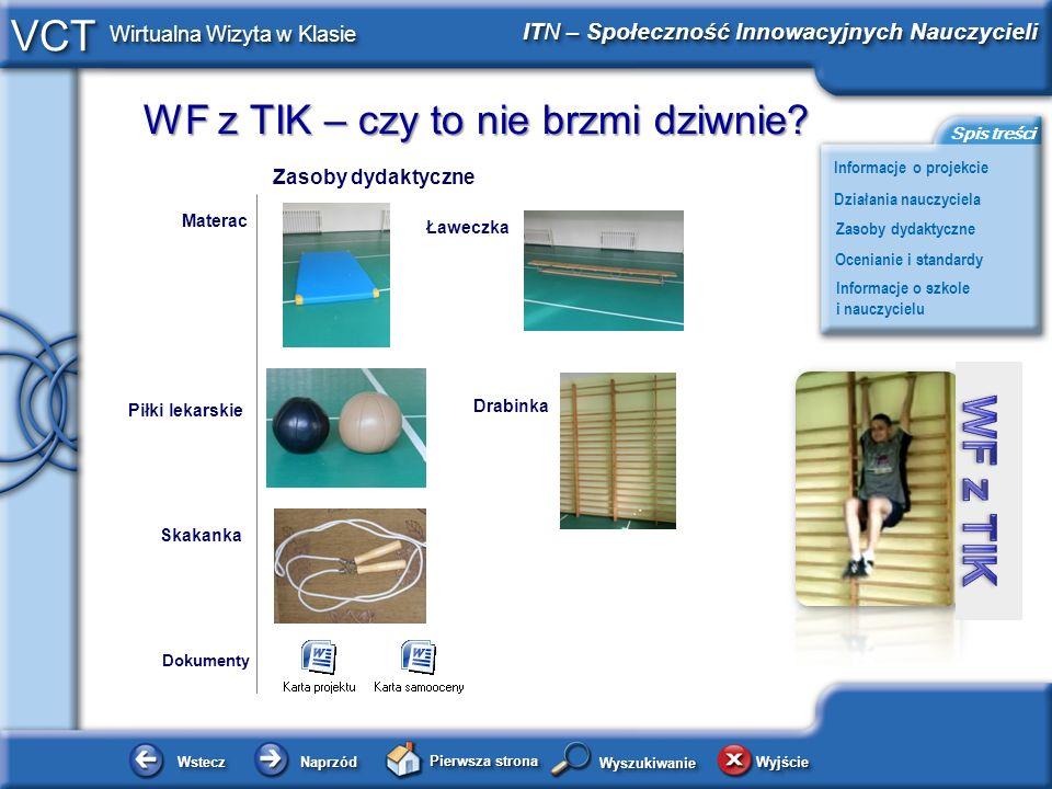 Zasoby dydaktyczne Materac Ławeczka Drabinka Piłki lekarskie Skakanka