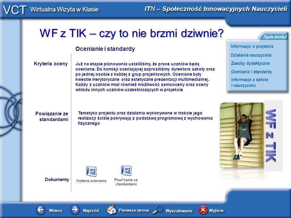 Ocenianie i standardy Kryteria oceny.