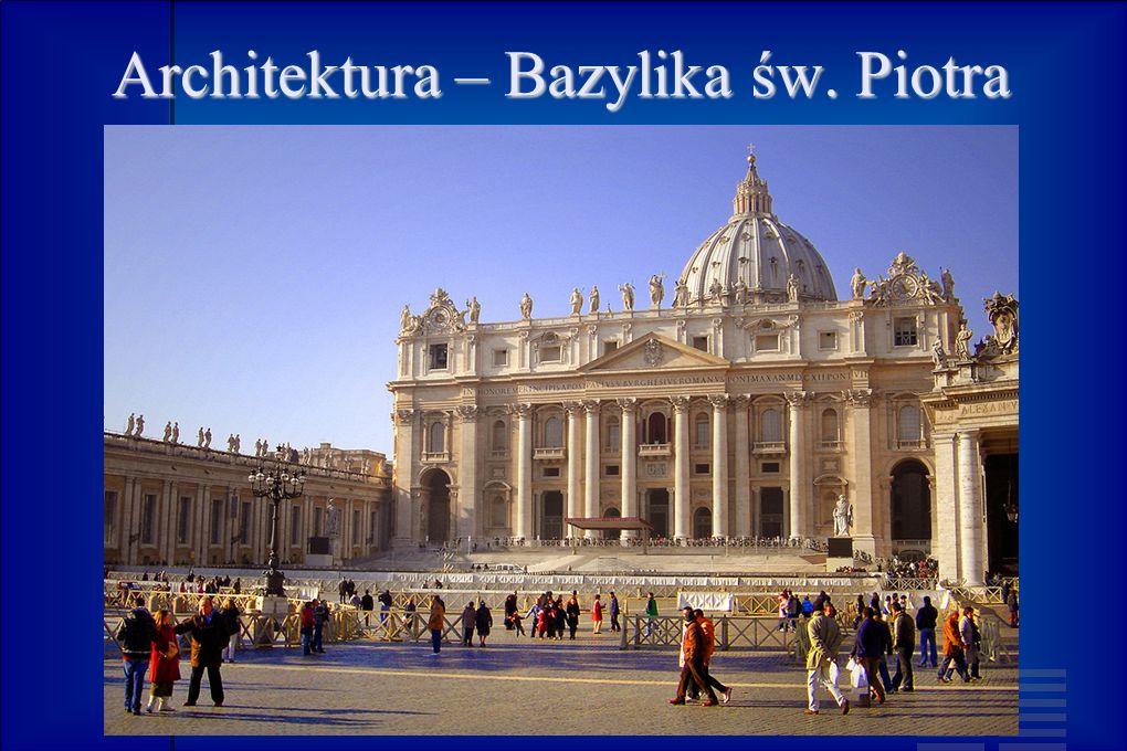 Architektura – Bazylika św. Piotra