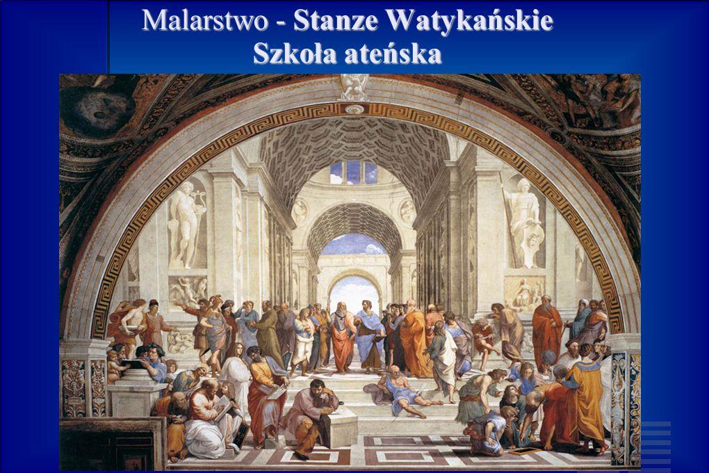 Malarstwo - Stanze Watykańskie Szkoła ateńska