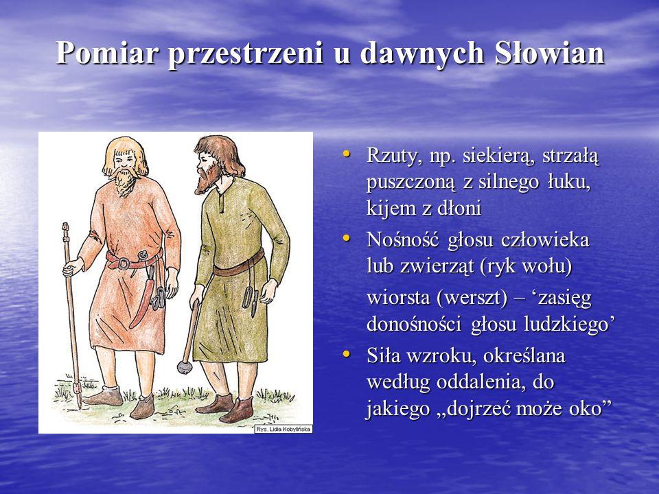 Pomiar przestrzeni u dawnych Słowian