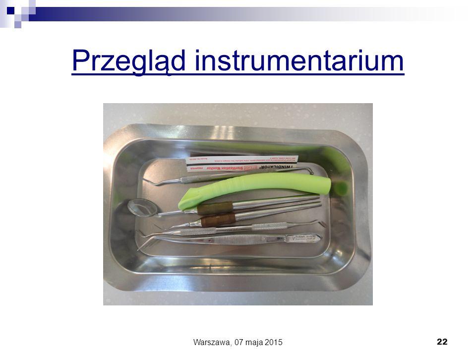 Przegląd instrumentarium