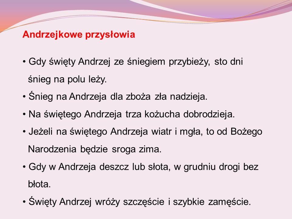 Andrzejkowe przysłowia