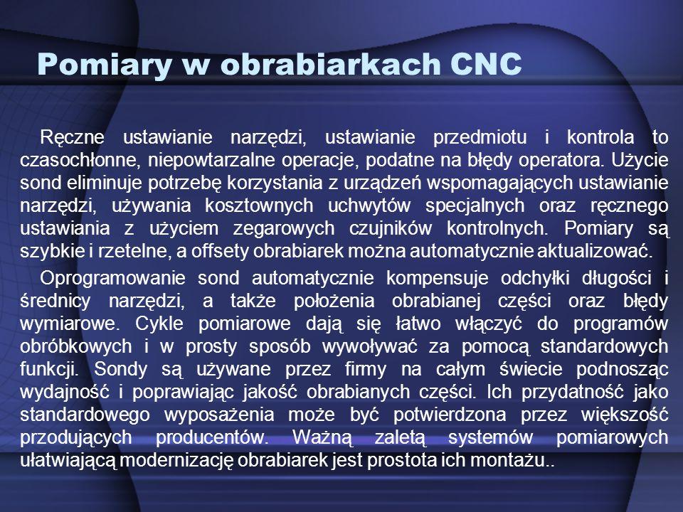 Pomiary w obrabiarkach CNC