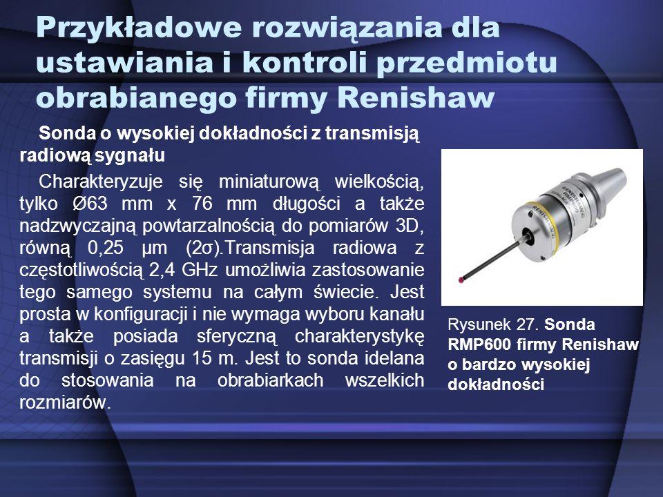 Przykładowe rozwiązania dla ustawiania i kontroli przedmiotu obrabianego firmy Renishaw