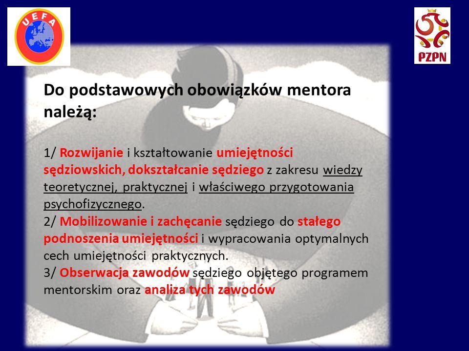 Do podstawowych obowiązków mentora należą: