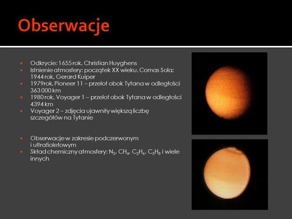 Obserwacje Odkrycie: 1655 rok, Christian Huyghens