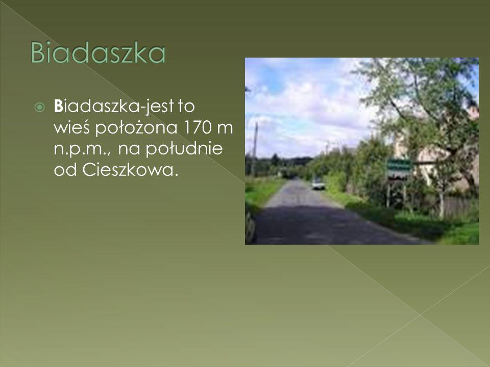 Biadaszka Biadaszka-jest to wieś położona 170 m n.p.m., na południe od Cieszkowa. Mariusz