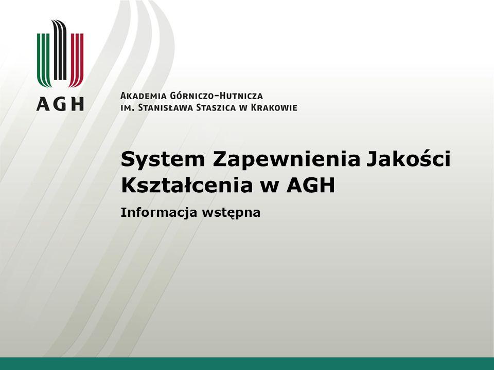 System Zapewnienia Jakości Kształcenia w AGH