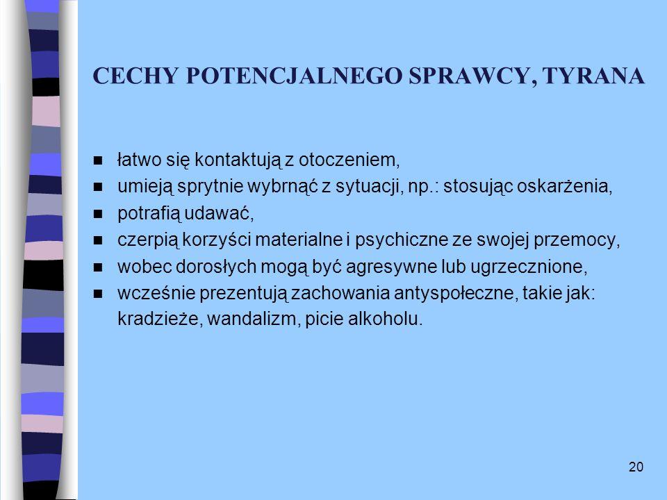 CECHY POTENCJALNEGO SPRAWCY, TYRANA