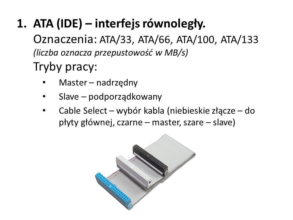 ATA (IDE) – interfejs równoległy