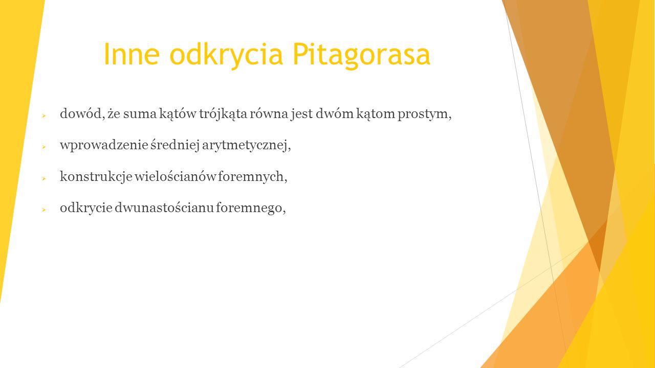 Inne odkrycia Pitagorasa