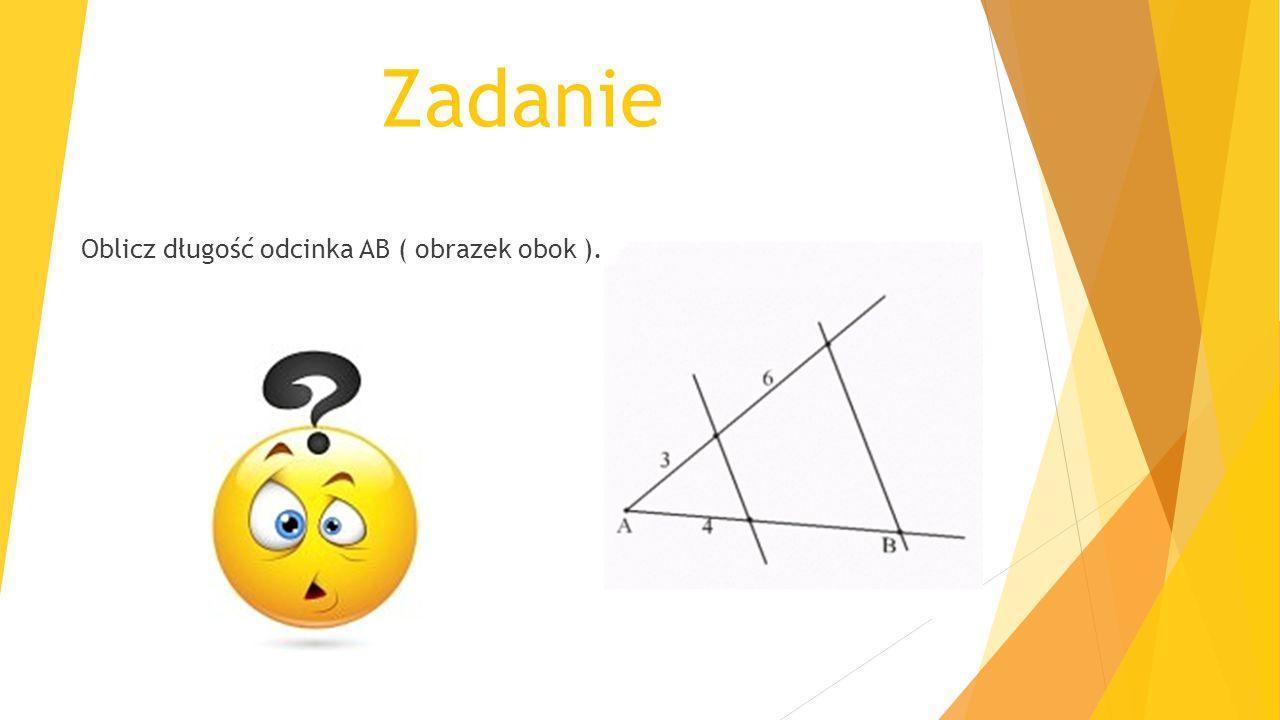 Zadanie Oblicz długość odcinka AB ( obrazek obok ).