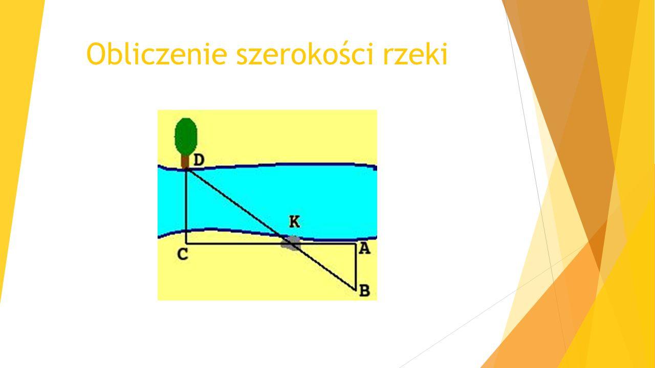 Obliczenie szerokości rzeki