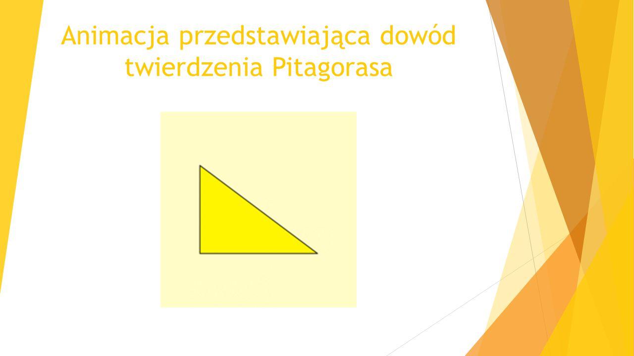 Animacja przedstawiająca dowód twierdzenia Pitagorasa