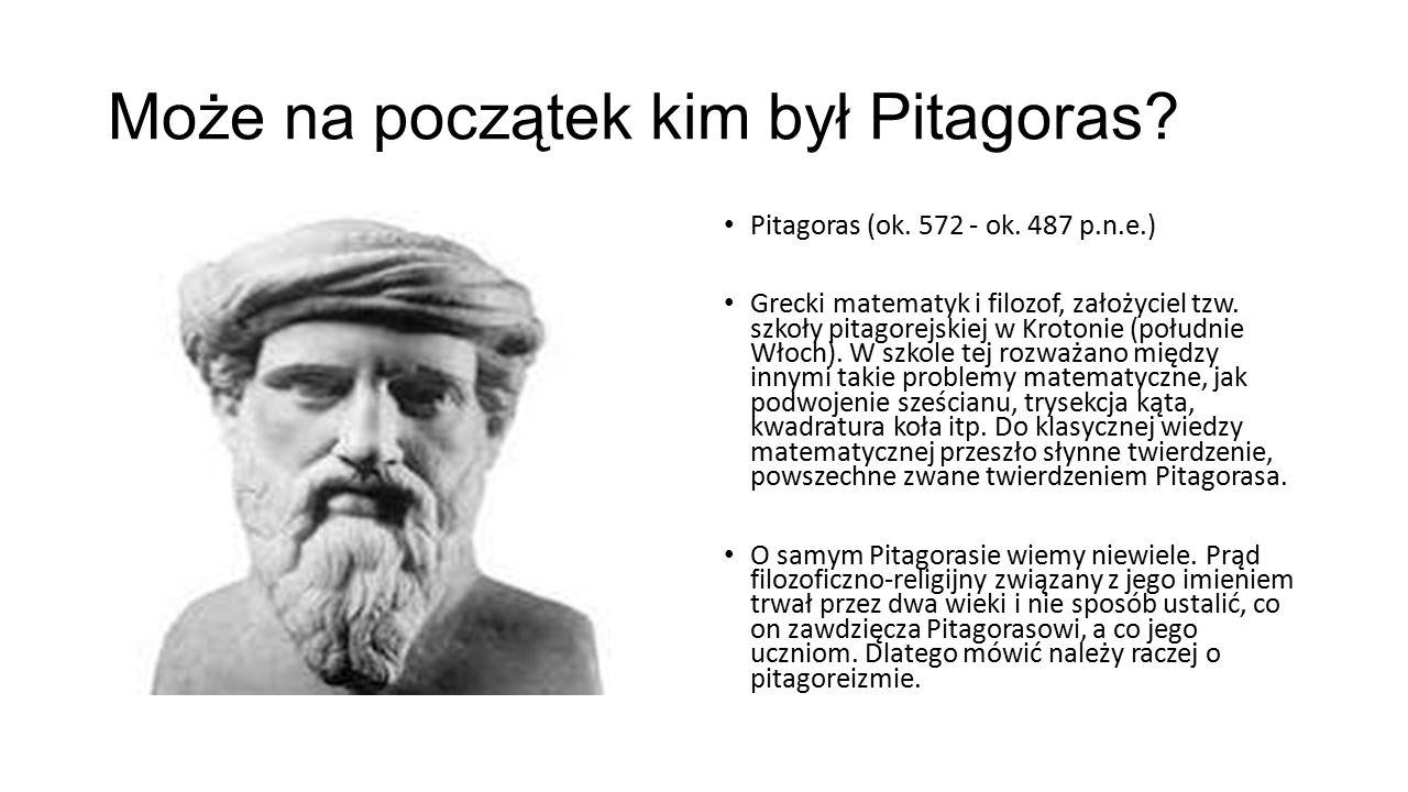 Może na początek kim był Pitagoras