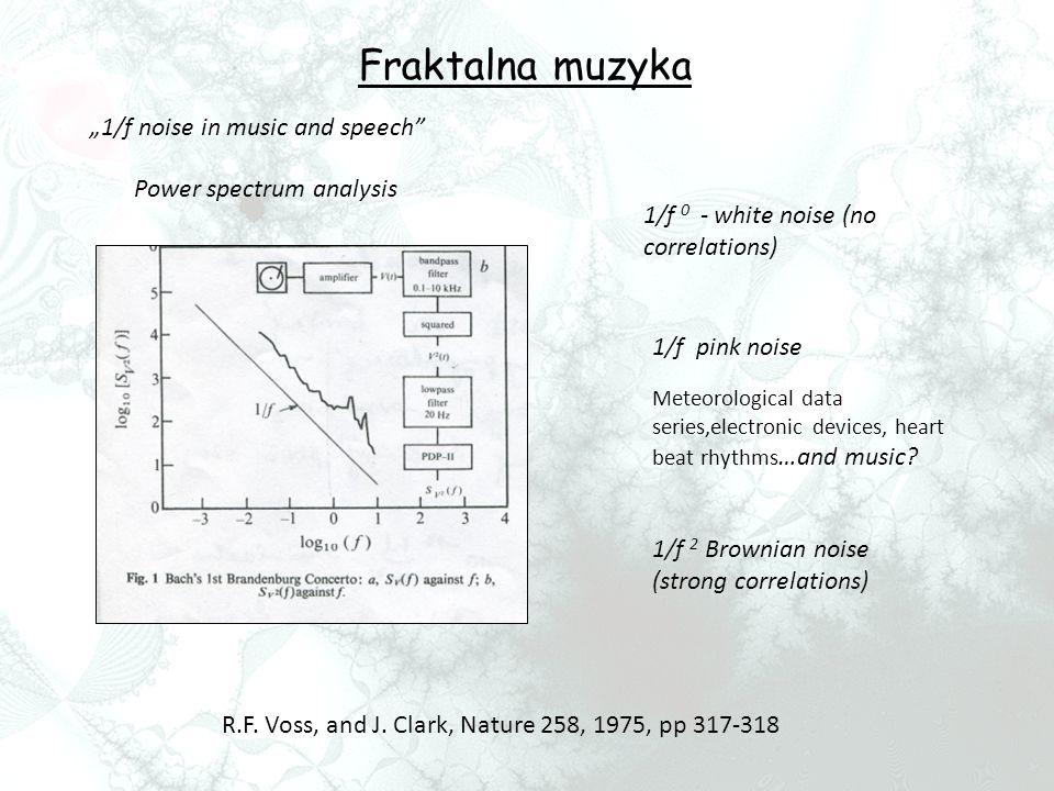 "Fraktalna muzyka ""1/f noise in music and speech"