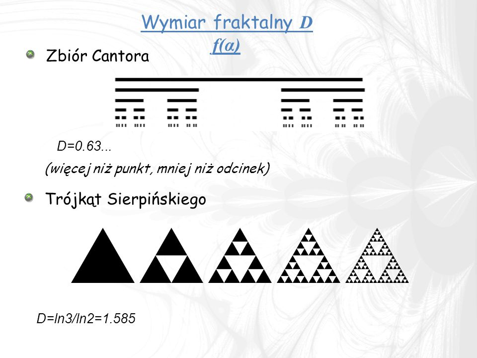 Wymiar fraktalny D f(α)