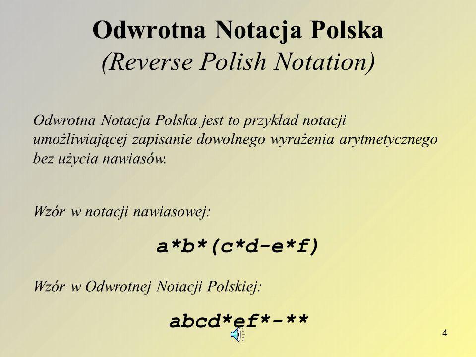 Odwrotna Notacja Polska (Reverse Polish Notation)