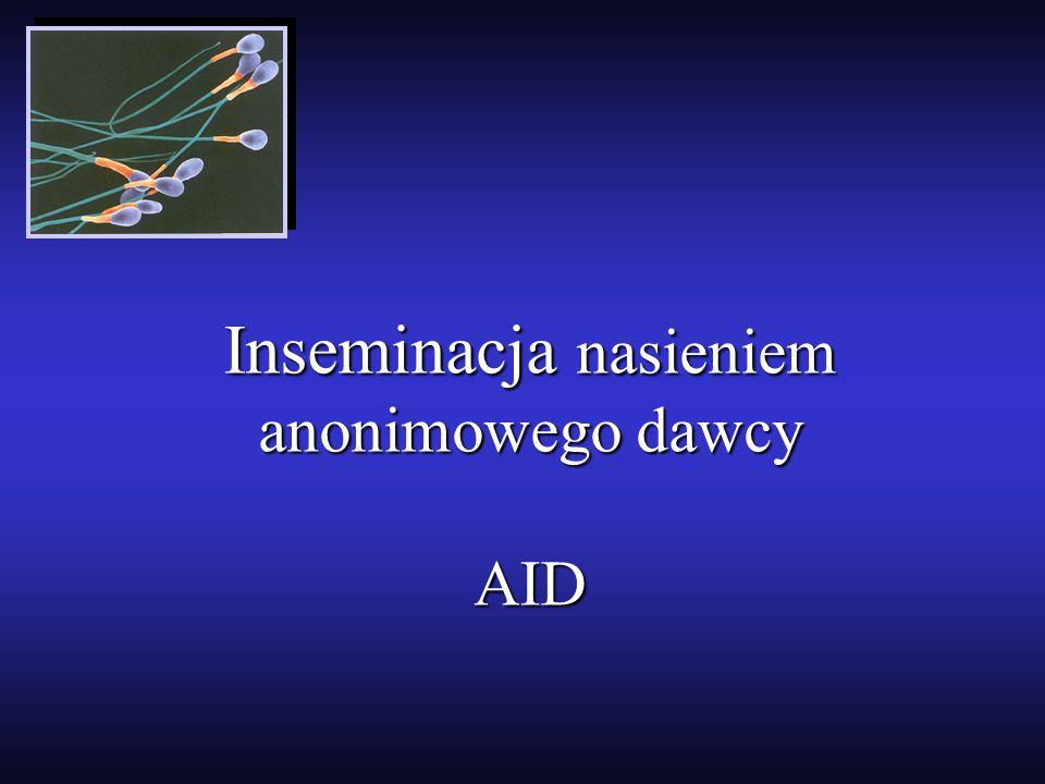Inseminacja nasieniem anonimowego dawcy AID