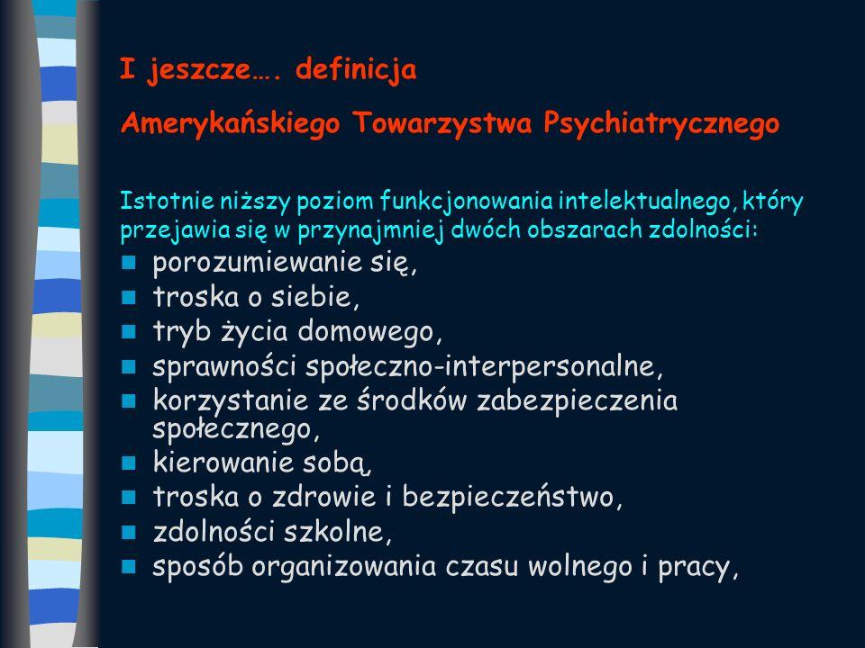 I jeszcze…. definicja Amerykańskiego Towarzystwa Psychiatrycznego