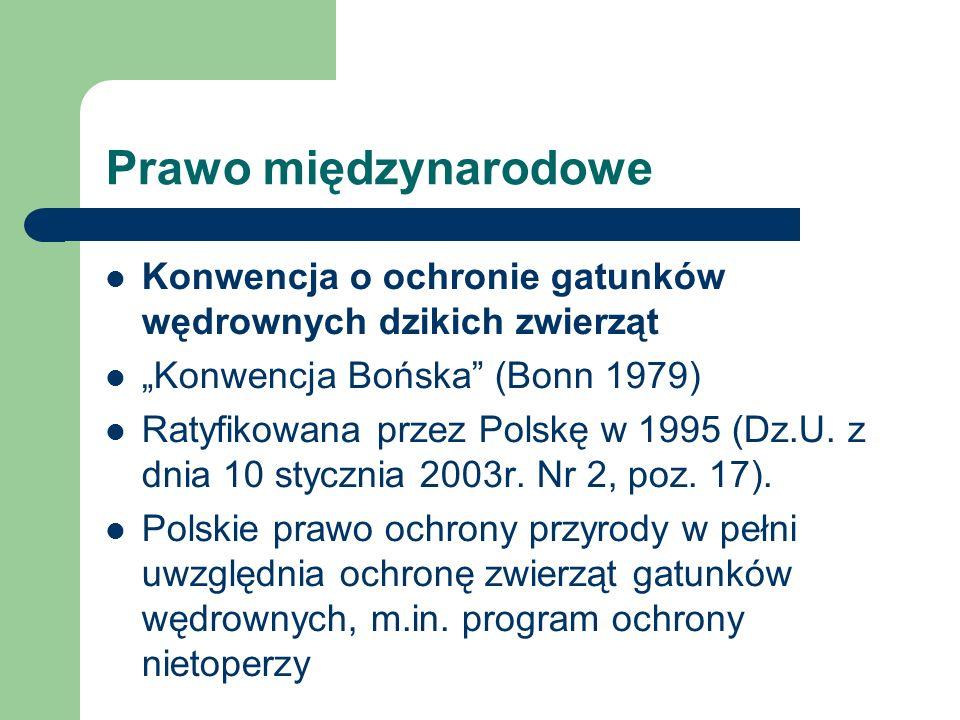 """Prawo międzynarodoweKonwencja o ochronie gatunków wędrownych dzikich zwierząt. """"Konwencja Bońska (Bonn 1979)"""