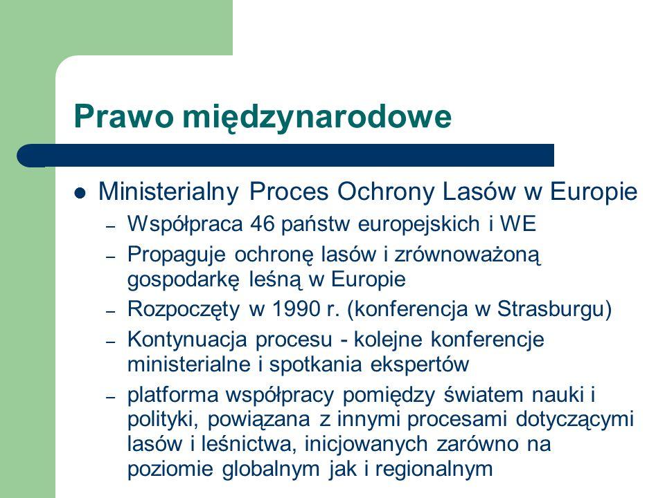 Prawo międzynarodowe Ministerialny Proces Ochrony Lasów w Europie