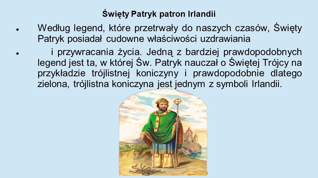 Święty Patryk patron Irlandii