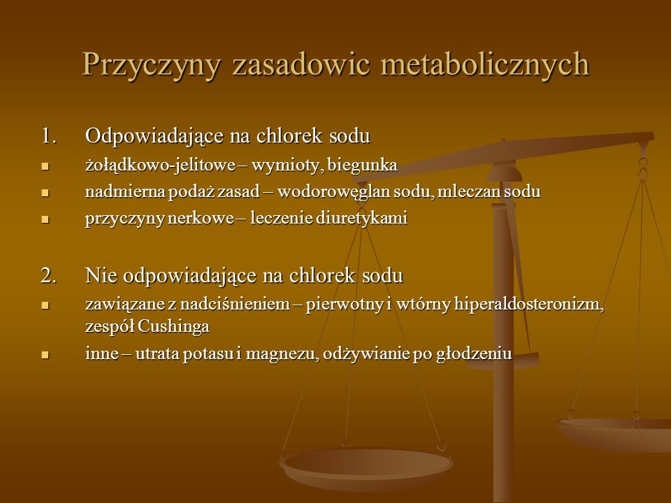 Przyczyny zasadowic metabolicznych