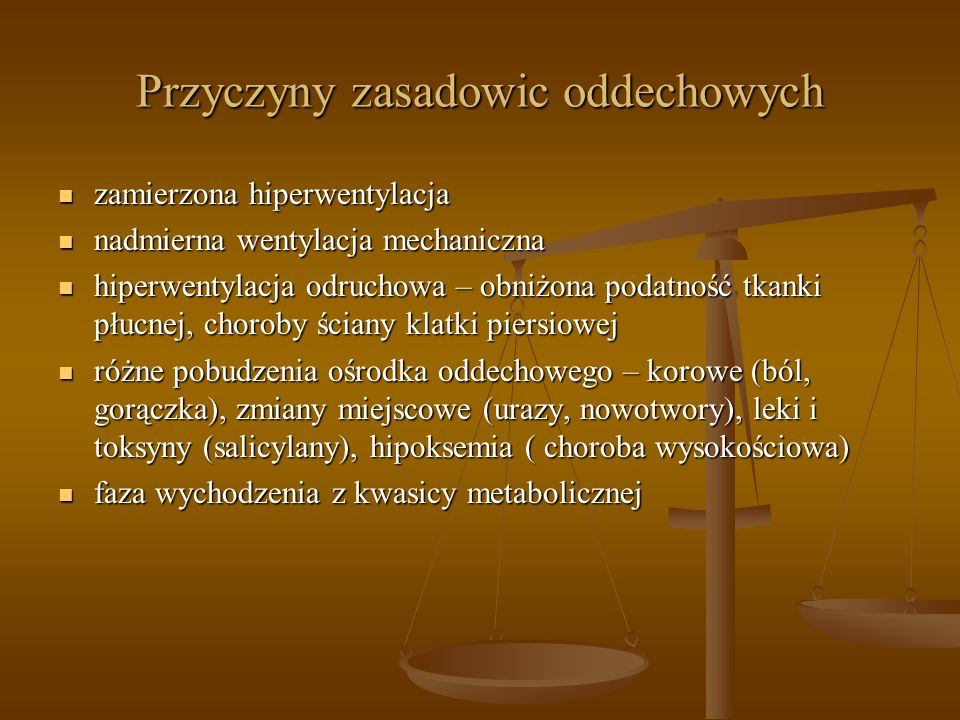 Przyczyny zasadowic oddechowych