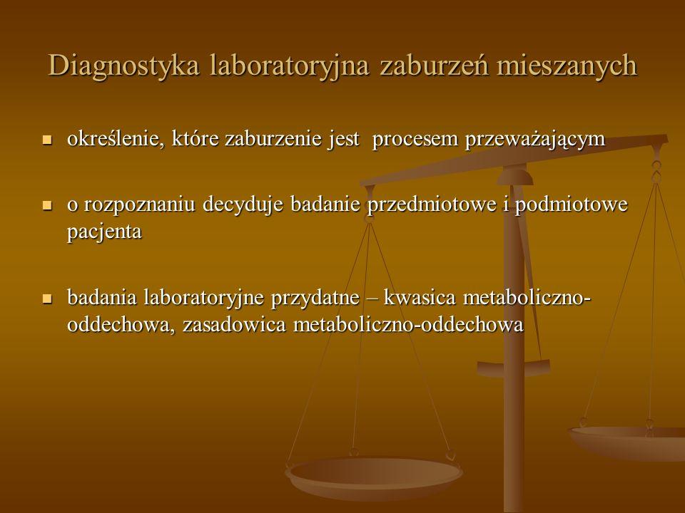 Diagnostyka laboratoryjna zaburzeń mieszanych