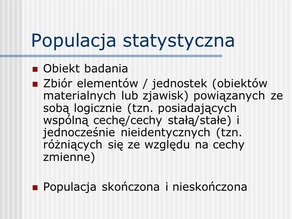 Populacja statystyczna