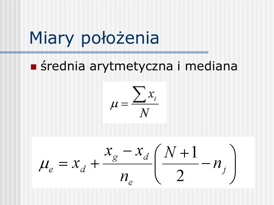 Miary położenia średnia arytmetyczna i mediana