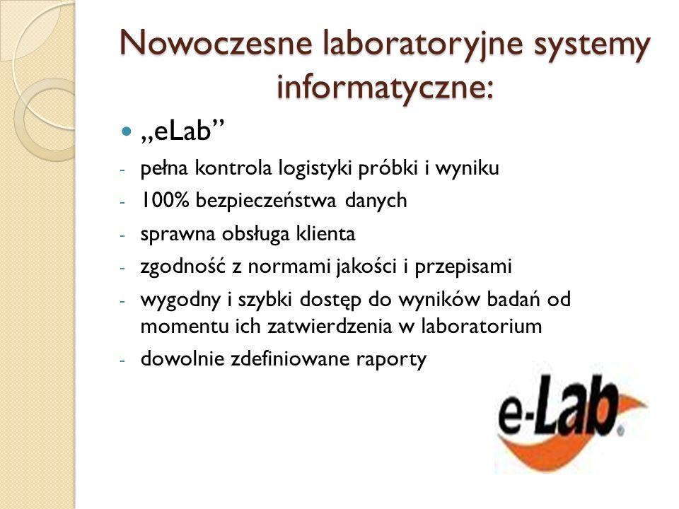 Nowoczesne laboratoryjne systemy informatyczne:
