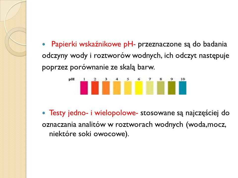 Papierki wskaźnikowe pH- przeznaczone są do badania