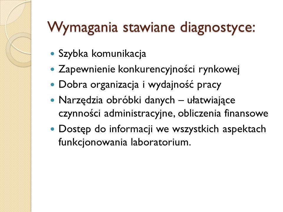 Wymagania stawiane diagnostyce: