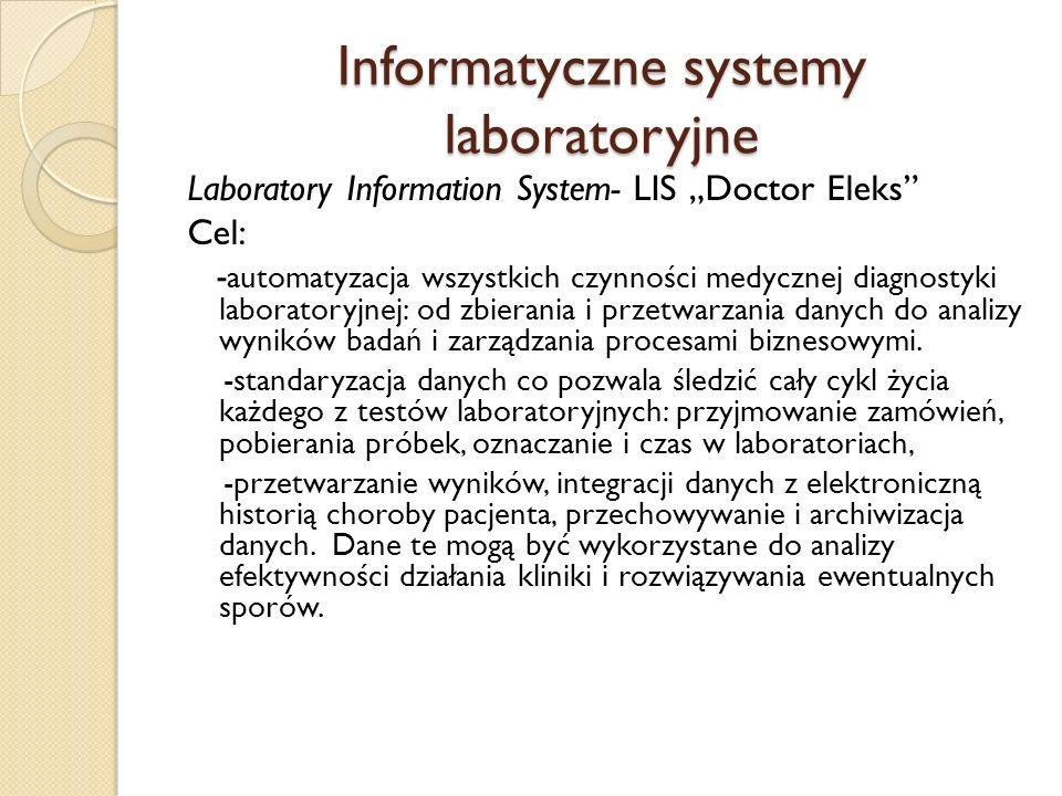 Informatyczne systemy laboratoryjne