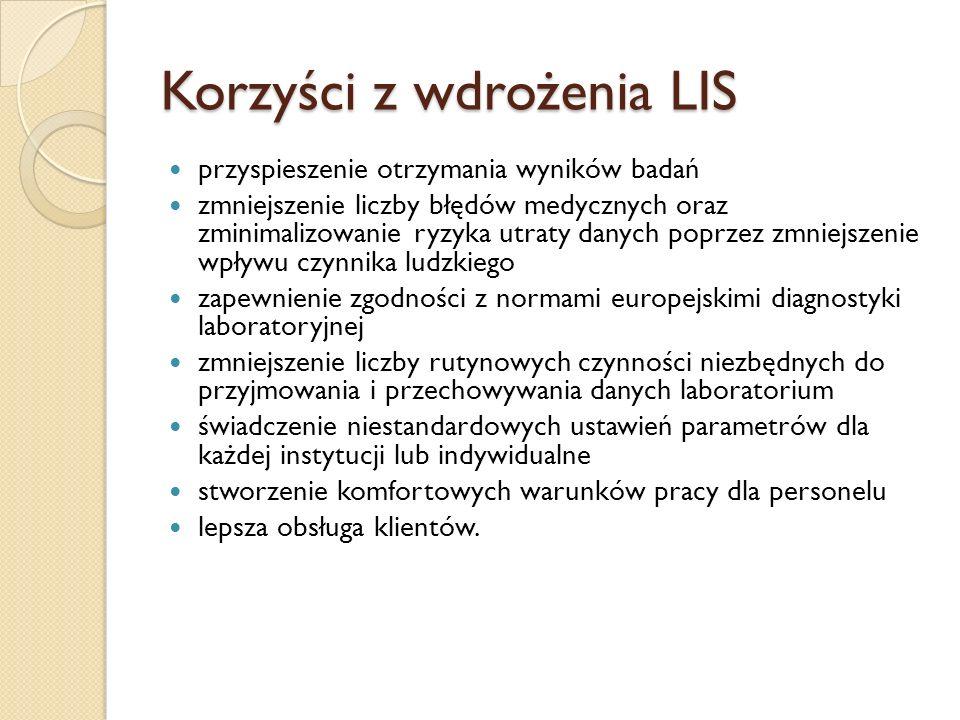 Korzyści z wdrożenia LIS