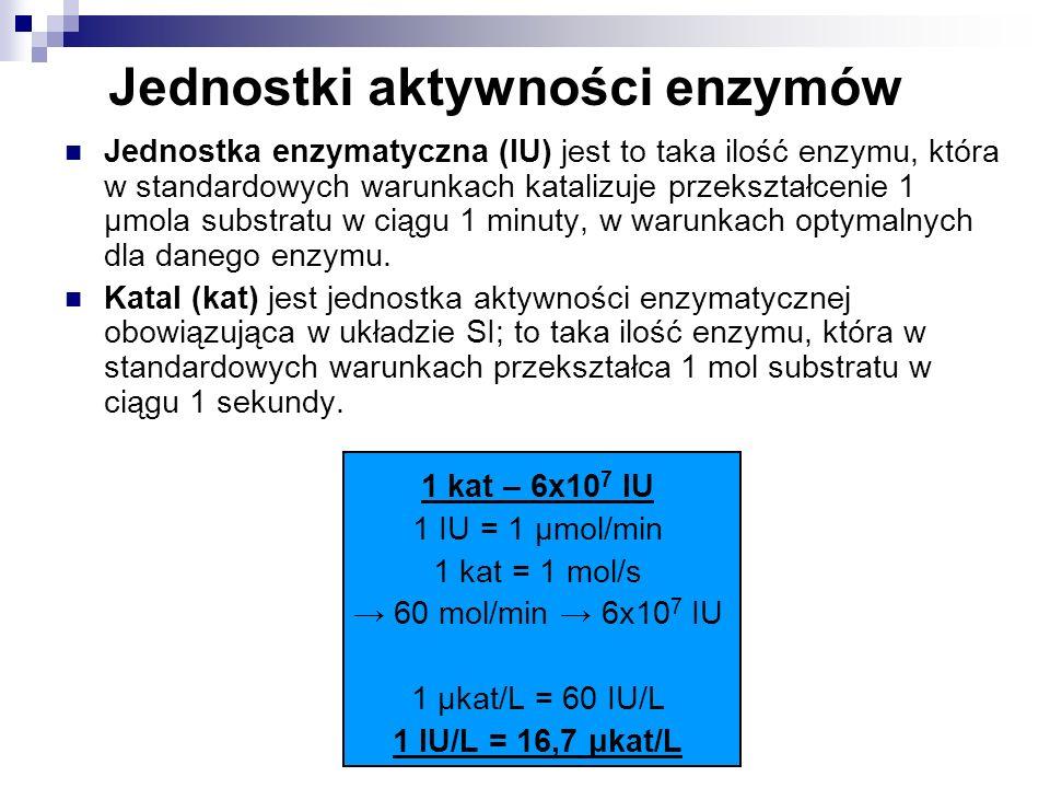 Jednostki aktywności enzymów