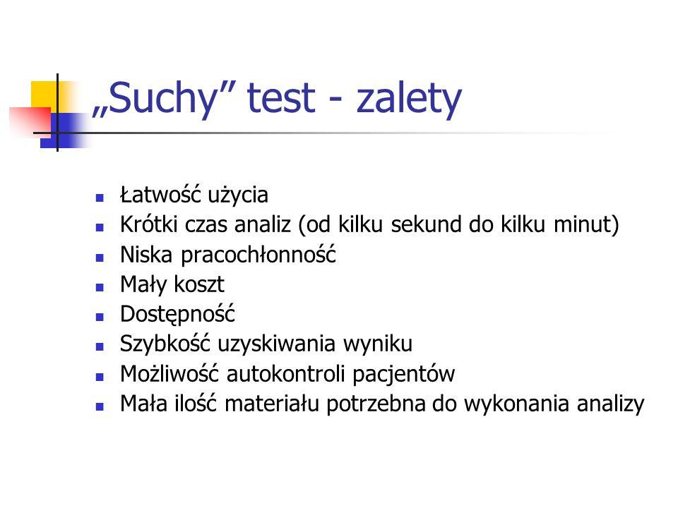 """""""Suchy test - zalety Łatwość użycia"""