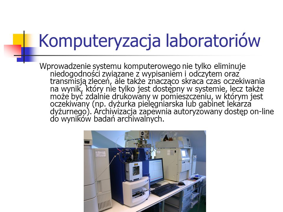 Komputeryzacja laboratoriów