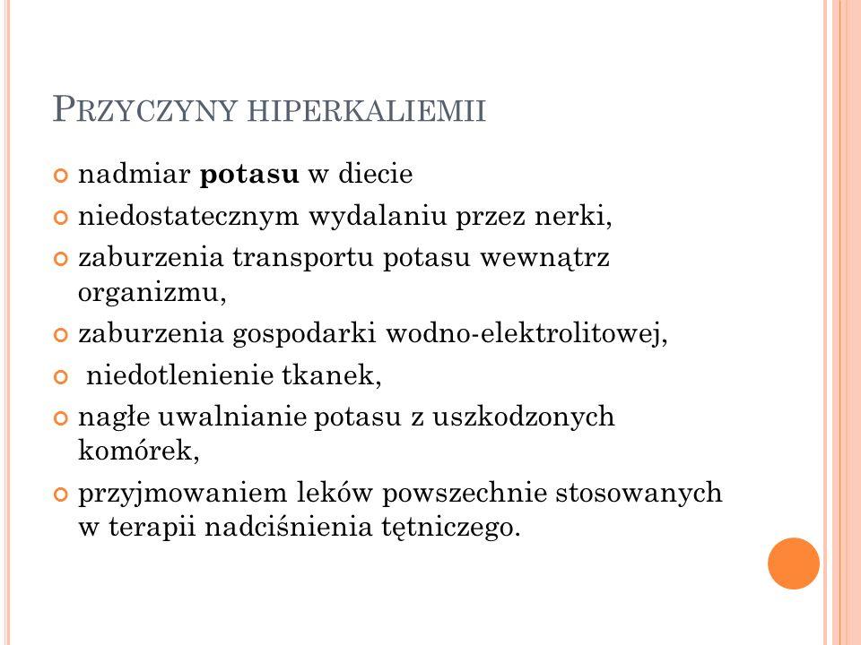 Przyczyny hiperkaliemii